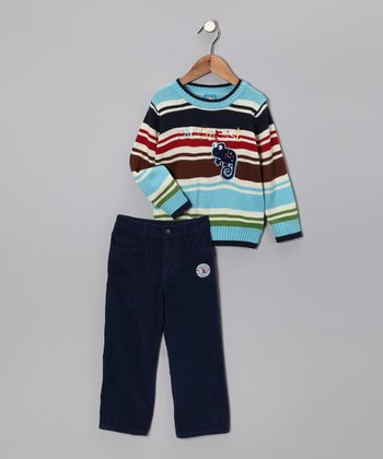 Light Blue 'Rainforest' Sweater & Pants - Toddler