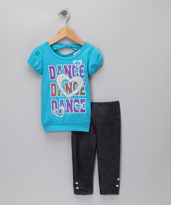 Aqua 'Dance' Tunic & Denim Jeggings - Infant