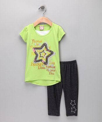 Green Star Tunic & Denim Jeggings - Infant