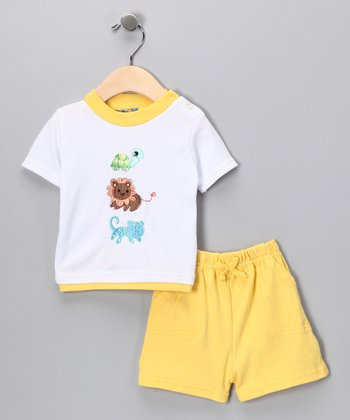 Sweet & Soft Yellow Lion Tee & Shorts - Infant