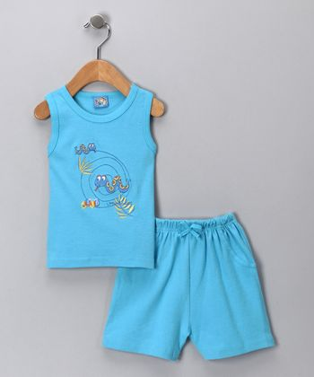Sweet & Soft Blue Snake Tank & Shorts - Infant