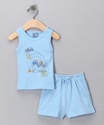 Light Blue Snake Tank & Shorts - Infant