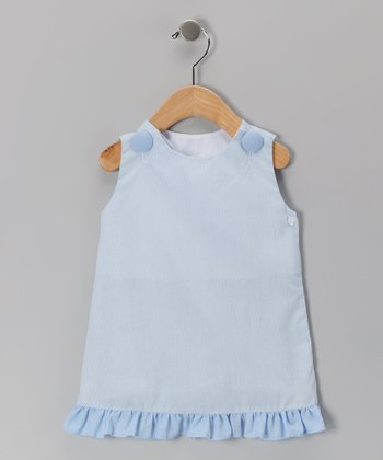 Blue Gingham Ruffle Jumper - Infant, Toddler & Girls