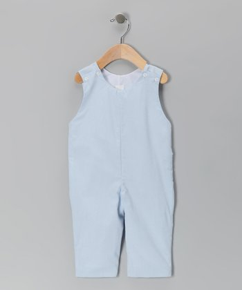Blue Gingham Overalls - Infant & Toddler