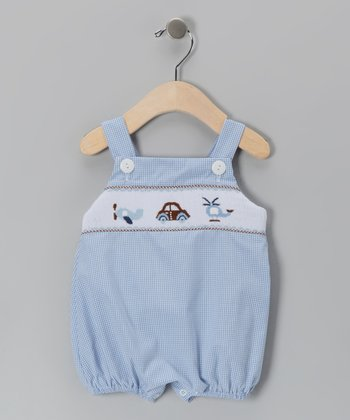 Blue Plane & Car Bubble Bodysuit - Infant