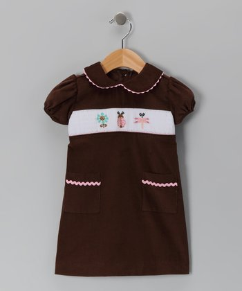 Brown Bug Corduroy Dress - Infant & Girls