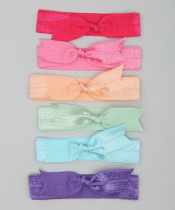 Pink & Purple Pastel Bow Hair Tie Set