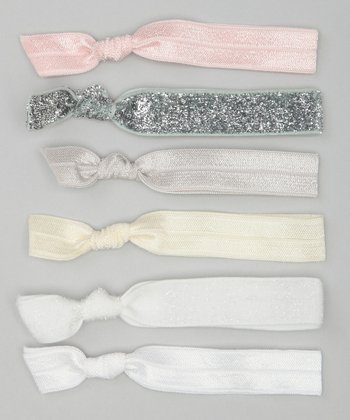 Pink & Cream Soft & Pretty Hair Tie Set