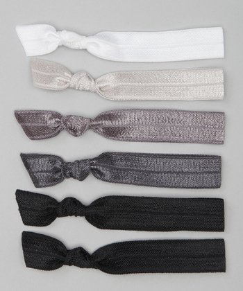 Black & Silver City Hair Tie Set