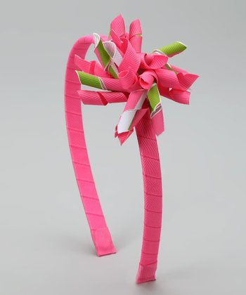Pink & Lime Korker Headband