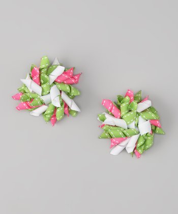 Lime & Pink Korker Clip - Set of Two