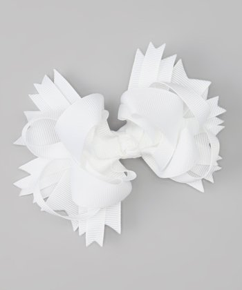 Sweet Treat Bows White Princess Bow Clip