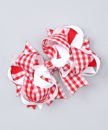 Red Gingham Clip