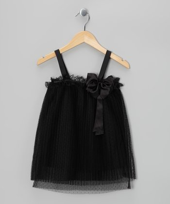 Black Bow Shift Dress - Girls
