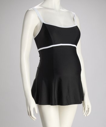 Black & White Maternity Swimdress