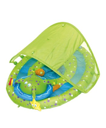 Green & Blue Octopus Canopied Baby Spring Float