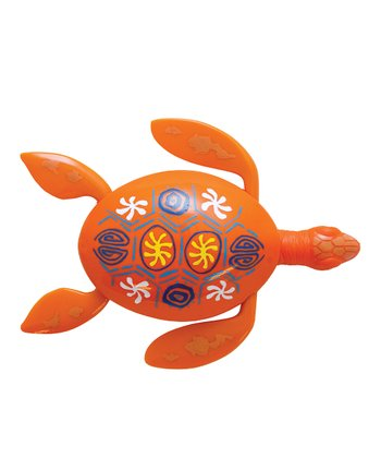 Orange Rainbow Reef Turtle Pool Toy
