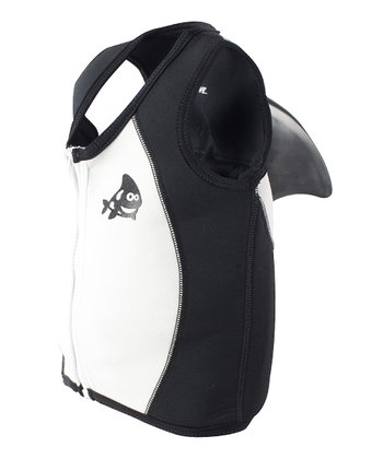 Black Orca Whale Sea Squirts Swim Vest