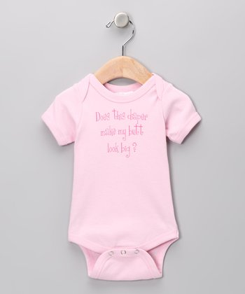 Pink 'Does This Diaper' Bodysuit - Infant