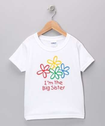 White 'I'm The Big Sister' Tee - Toddler & Girls