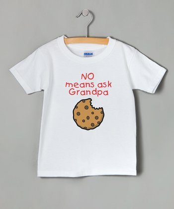 White 'No Means Ask Grandpa' Tee - Toddler & Kids