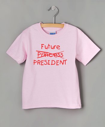 Pink 'Future President' Tee - Toddler & Kids