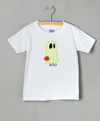 White 'Boo' Tee - Toddler & Kids