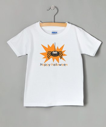 White Spider 'Happy Halloween' Tee - Toddler & Kids