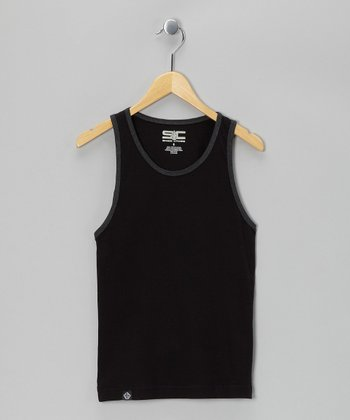 Black & Charcoal Tank - Toddler & Kids