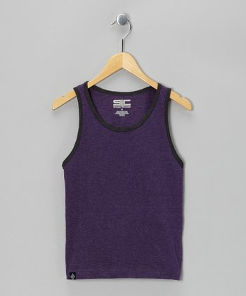 Purple & Charcoal Tank - Toddler & Boys