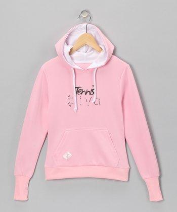 Pink 'Diva' Tennis Hoodie - Girls