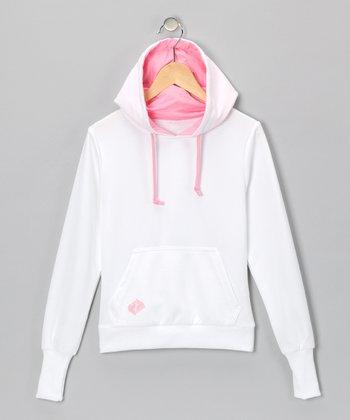 White Tennis Hoodie - Girls