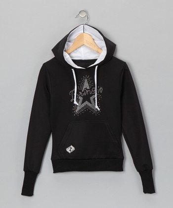 Black 'Bring It' Tennis Hoodie - Girls