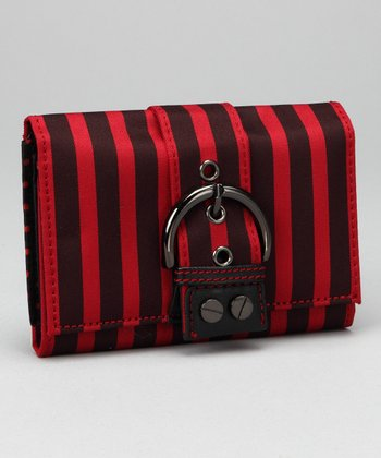 Black & Red Stripe Wallet