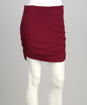 Synergy Wine Gathered Organic Miniskirt