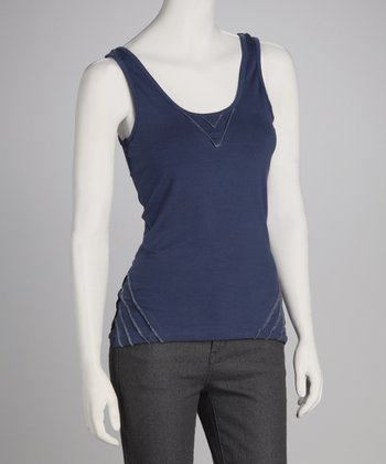 Synergy Navy Pico Organic Scoop Neck Tank