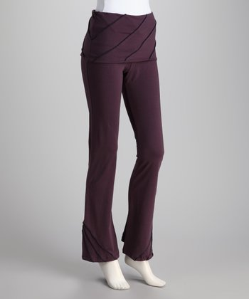 Synergy Plum Pico Organic Skirted Yoga Pants