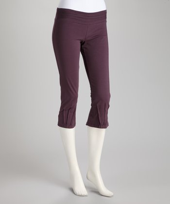 Synergy Plum Pico Organic Cropped Yoga Pants