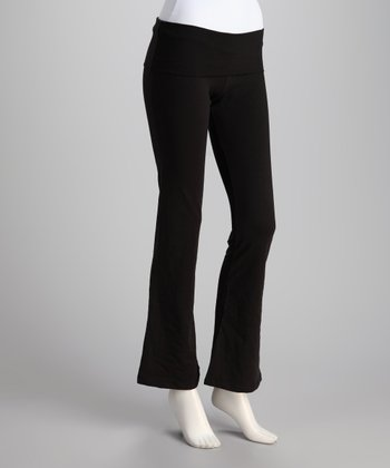 Synergy Black Yogini Organic Yoga Pants
