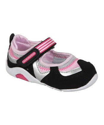 Black & Fuchsia Baby Arisa Mary Jane