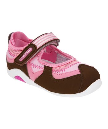 Brown & Pink Baby Arisa Mary Jane
