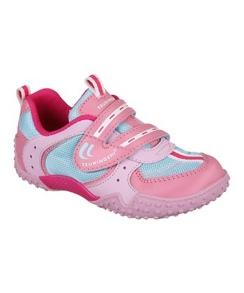 Pink & Light Blue Wheel Sneaker