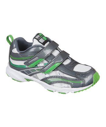 Graphite & Green Flame Sneaker