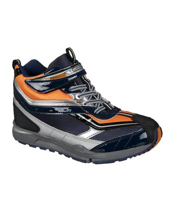 Navy & Orange Waterproof Everest Boot