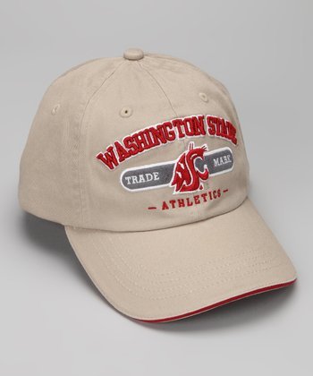 Khaki Washington State Trademark Baseball Cap