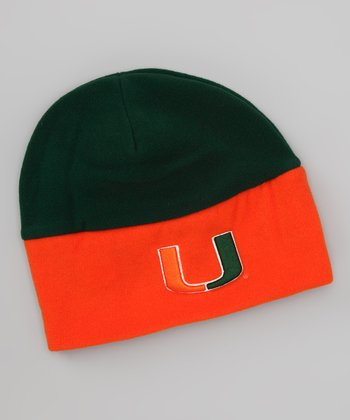 Green & Orange Miami Color Block Beanie - Kids