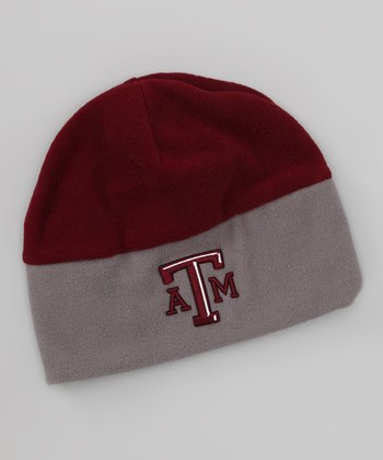 Maroon & Gray Texas A&M Color Block Beanie