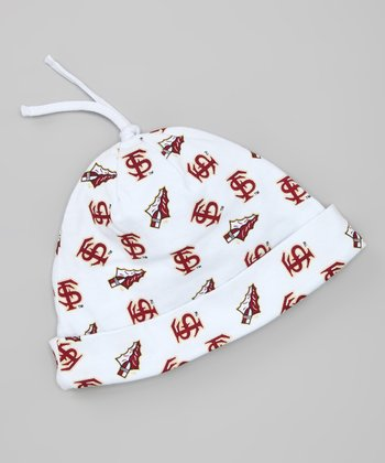 White Florida State Logo Beanie - Infant