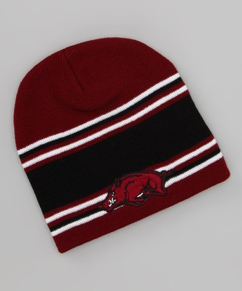 Arkansas Razorbacks Stripe Beanie