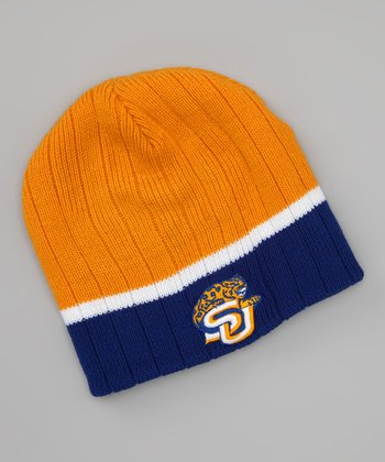 Yellow & Blue Southern University Stripe Beanie